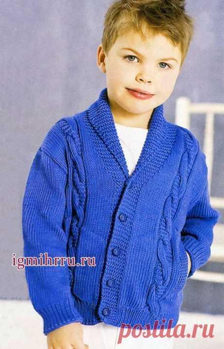 Жакет на мальчика на рост 98(110)122(134)146 (Вязание спицами) – Журнал Вдохновение Рукодельницы