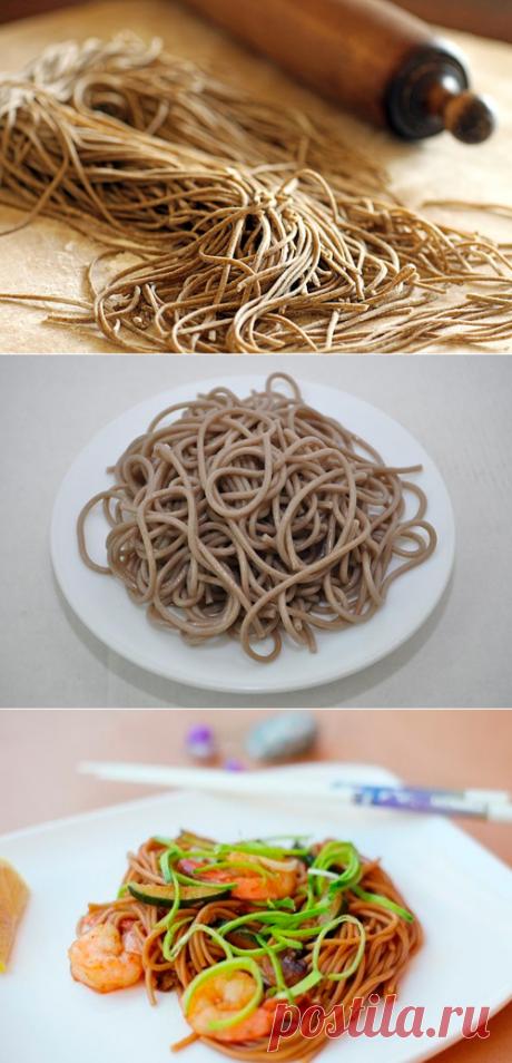 Гречневая лапша - лучшие рецепты - Как правильно готовить гречневую