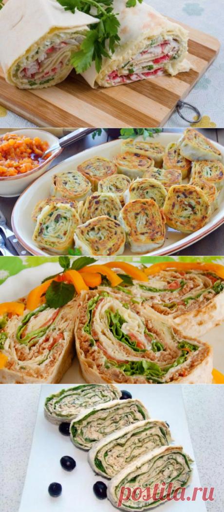 Начинка для лаваша — простые рецепты вкусной домашней закуски
