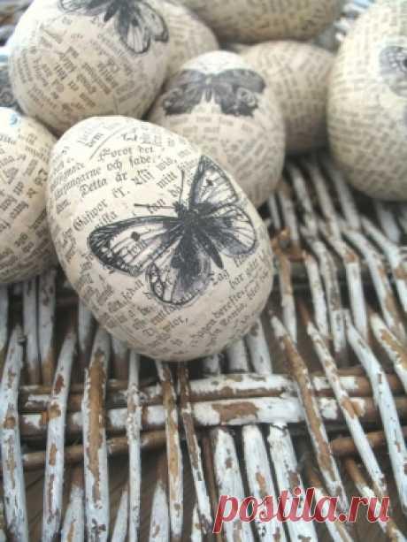 декупаж пасхальные яйца