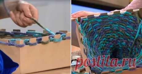 Модный шарф-хомут без спиц и крючка, только руками! Мастерица поделилась необычным способом
