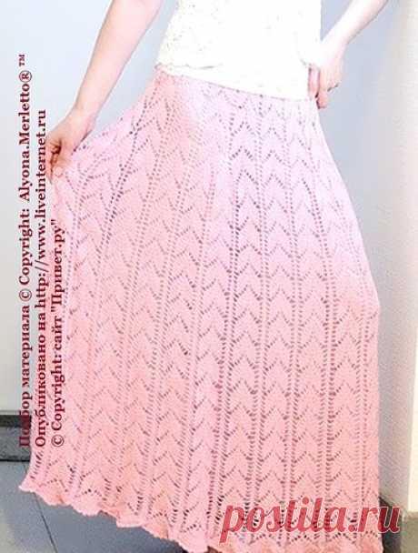 Шикарная юбка крючком от Елены Ветровой + 8 схем