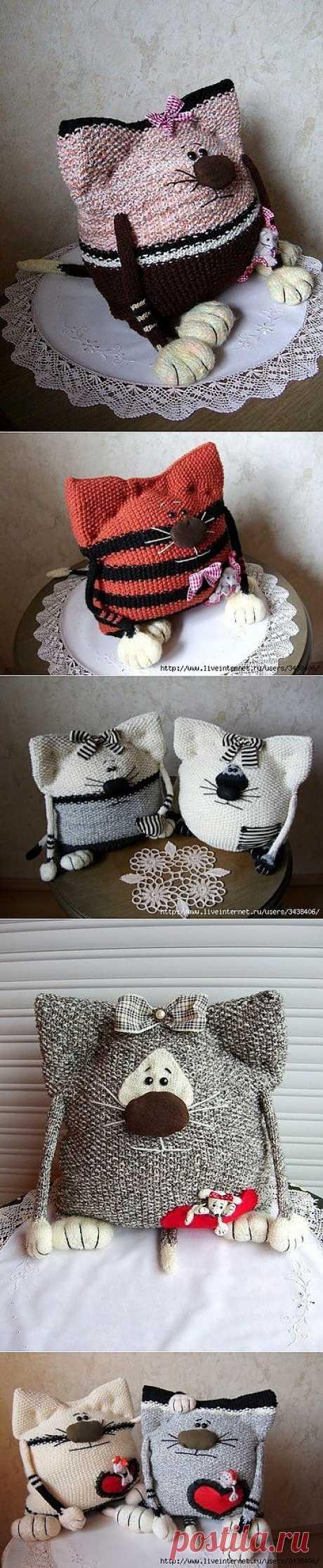 вязаные коты - Самое интересное в блогах
