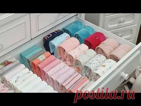 جميع حيل ماري كوندو في ترتيب و طي الملابس / Tidy Up Your Home: The KonMari Method : Storing clothes