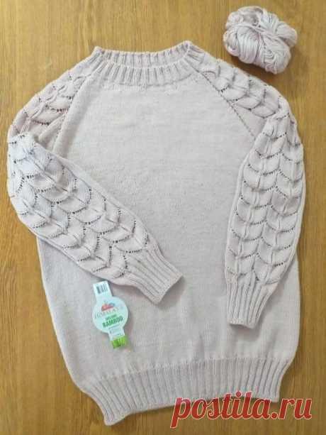 Красивый, аккуратно связанный свитер (Вязание спицами) – Журнал Вдохновение Рукодельницы