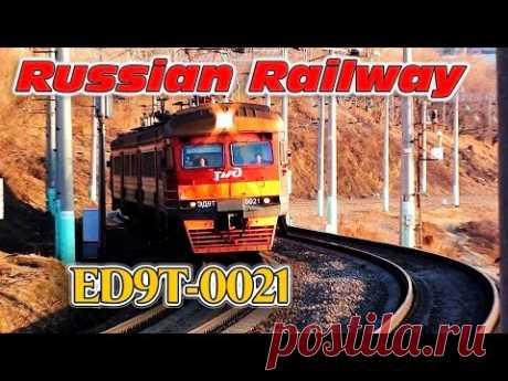Electric Train ED9T-0021/ Электропоезд ЭД9Т-0021 - YouTube