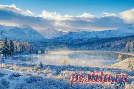 Свежий снег. Алтай. Автор фото — Светлана Казина: nat-geo.ru/photo/user/30896/