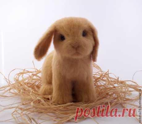 Валяние крольчонка. МК Катерины Гудожниковой