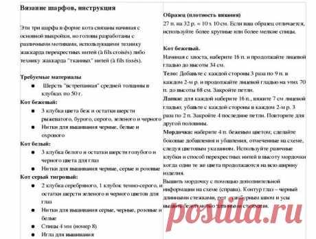 вязаный шарф спицами лиса найти описание и выкройки: 10 тыс изображений найдено в Яндекс.Картинках