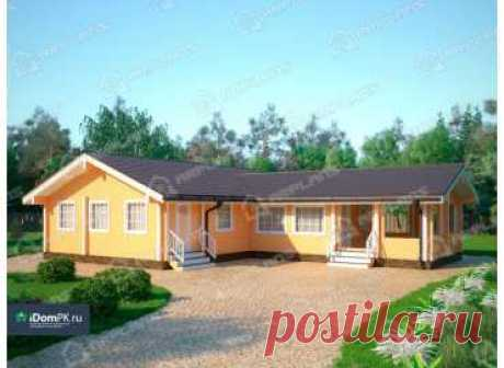 p1680w – проект одноэтажного углового дома из бруса 12 на 11 с сауной до 100 кв м