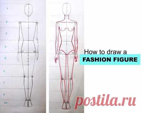 Как рисовать фигуру Моды-шаг за шагом учебник для начинающих