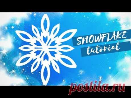 Снежинка №5 из бумаги для украшения окна к новому году!