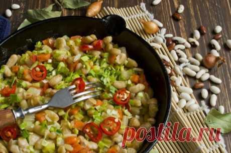 El ragú de hortalizas con la judía. La judía en conserva estofado con hortalizas. La receta poshagovyy de la foto - Ботаничка.ru