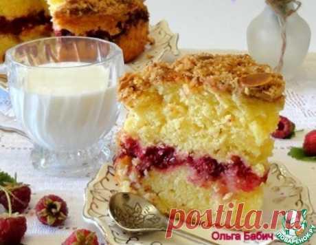 Малиновый пирог со штрейзелем – кулинарный рецепт