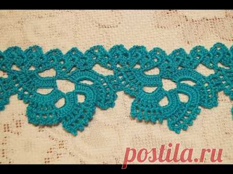 Border for a bottom of a dress or a blouse, skaterti.frill for the bottom of the dress or blouse, tablecloth.