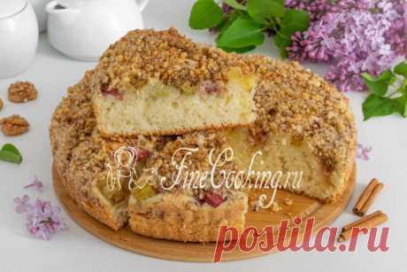 Творожный пирог с ревенем Ароматный, нежный, мягкий и очень вкусный домашний пирог, который по текстуре напоминает кекс.