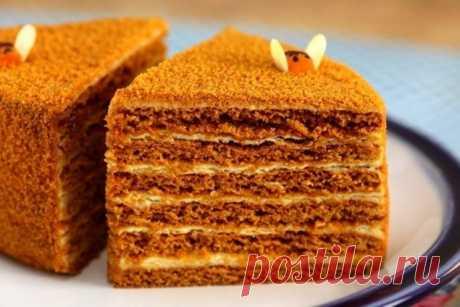 Медовый торт на сковороде | Кулинарная статья на koolinar.ru