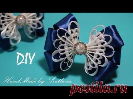 Bows from a narrow satin ribbon of Kanzasha Satin Ribbin Bow Laco de fita DIY