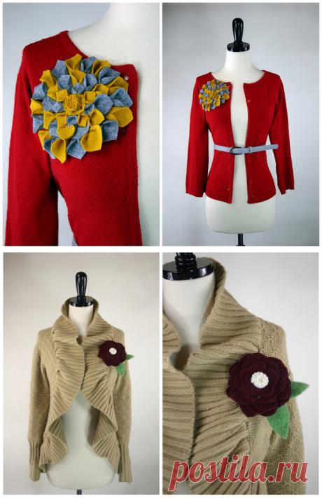 Мастерица потрясающе переделывает обыкновенные свитера и кардиганы