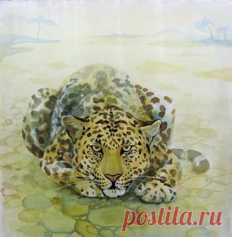 Ягуар. Авторская работа Радченко Татьяны.2014г. Размер 50Х50 см.Продаётся.