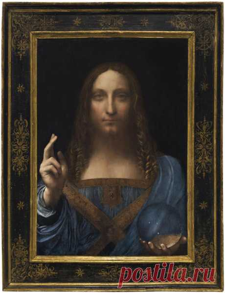 "themaninthegreenshirt: "" Leonardo da Vinci's masterpiece Salvator Mundi sells for $450,312,500, a record for any work of art sold at auction. """