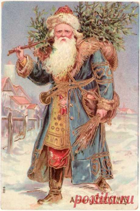 Новогодне-рождественские винтажные открытки
