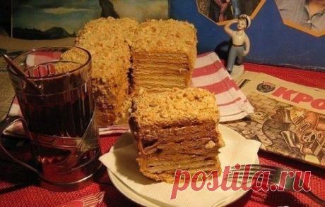 Шикарный торт из печенья без выпечки со сгущенным молоком