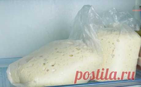 Дрожжевое тесто за 5 минут: долго хранится, быстро не перекисает, можно замораживать (и всегда получается)