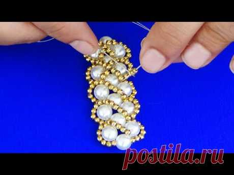 Hand Embroidery: Beautiful Pearl Embroidery