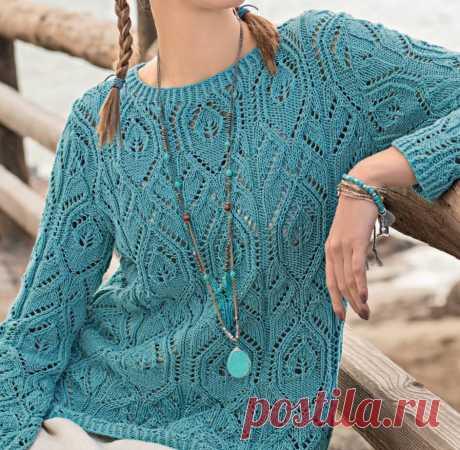 Встречаем весну в ажурном пуловере | Магия вязания | Яндекс Дзен