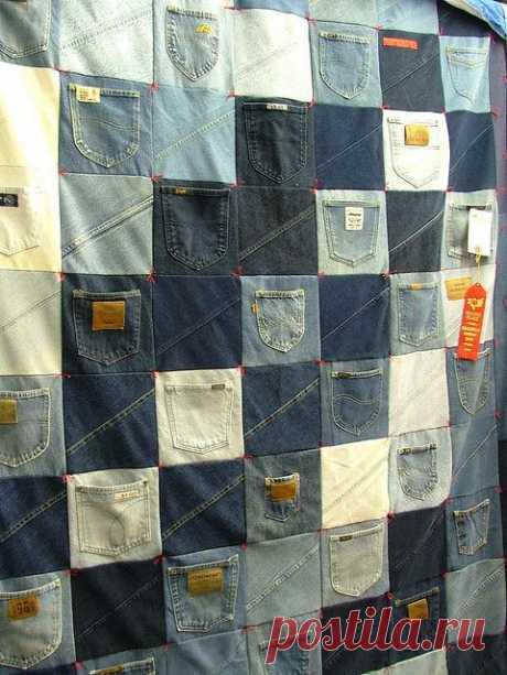 Джинсовые пледы, или Как не расставаться с любимыми джинсами | Журнал Ярмарки Мастеров