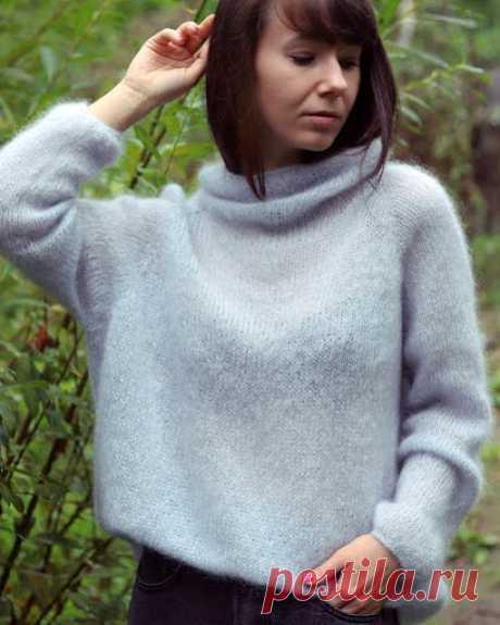 ВСЕ СВЯЗАНО. ROSOMAHA.: Чудесный свитер из пушистого мохера.