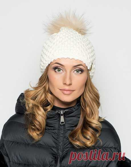 Модные вязаные шапки, меховые шапки, зимние шапки 2016 - 2017 года: фото, тенденции