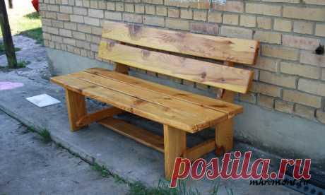 Простая деревянная скамейка — Сделай сам