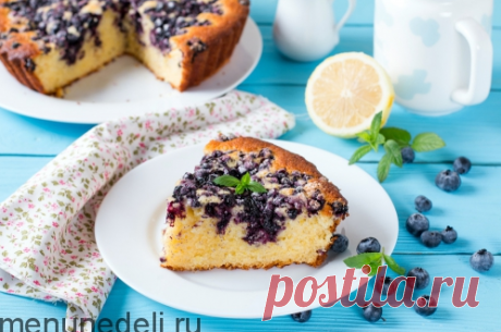 Рецепт лимонного пирога с черникой / Меню недели