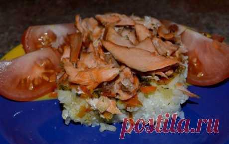 Запеканка рисовая с рыбой
