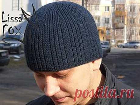 Мужская шапка-резинка крючком | Сделай сам!