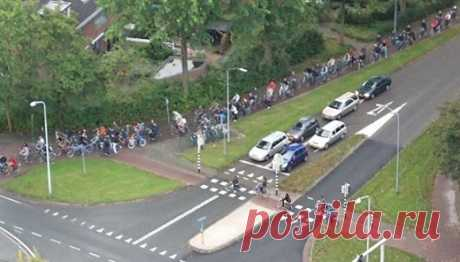Час-пик в Нидерландах :)