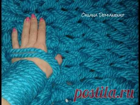 How to connect snud (a scarf, a collar) on hands