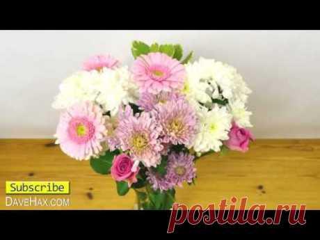Скотч на вазе для цветов. Для чего? - YouTube