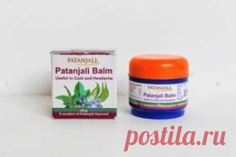 Бальзам Патанджали против простуды и головной боли (Patanjali Balm), 25 гр. Индия.