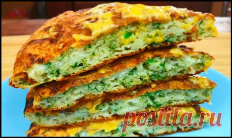 Чудо—завтрак за 10 минут: ленивый хачапури на сковороде!