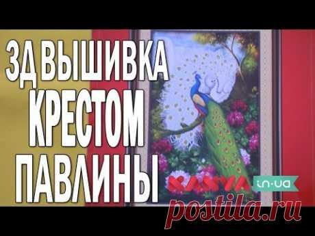 #ВЫШИВКА КРЕСТОМ 3Д: павлины. #ОБЗОР набора с нанесенным рисунком на канву