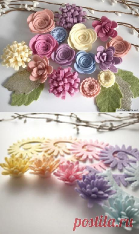 Шаблоны цветов из фетра.