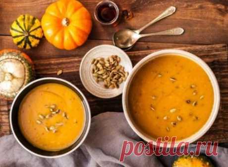 Тыквенный крем-суп с сыром #тыквенныйсуп #кулинария #первыеблюда #рецепты