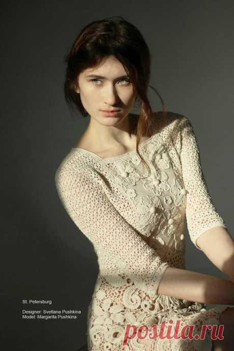 dress for photo shoot Irish crochet hand made haute couture | Etsy