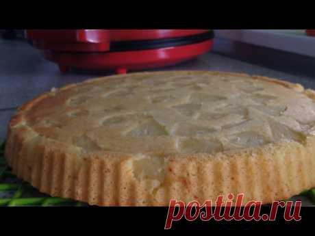 Ананасовая шарлотка. Ананасовый пирог в пиццамейкере.