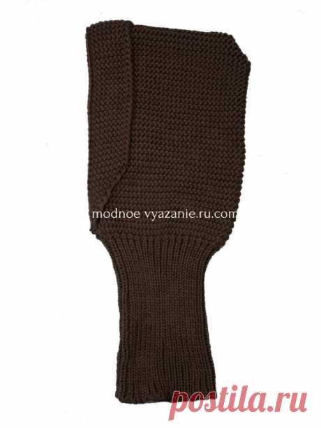 Воротник капюшон вязаный спицами - Knitting.Klubok.ru.com