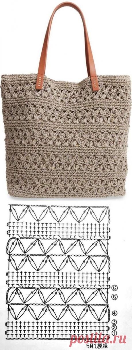 10 узоров крючком для летних сумок | Рукоделие