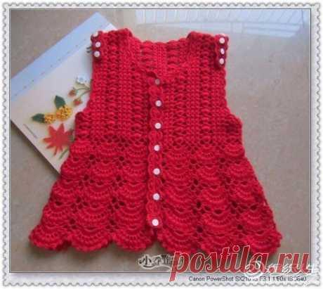 Платье детское на пуговицах, схема
